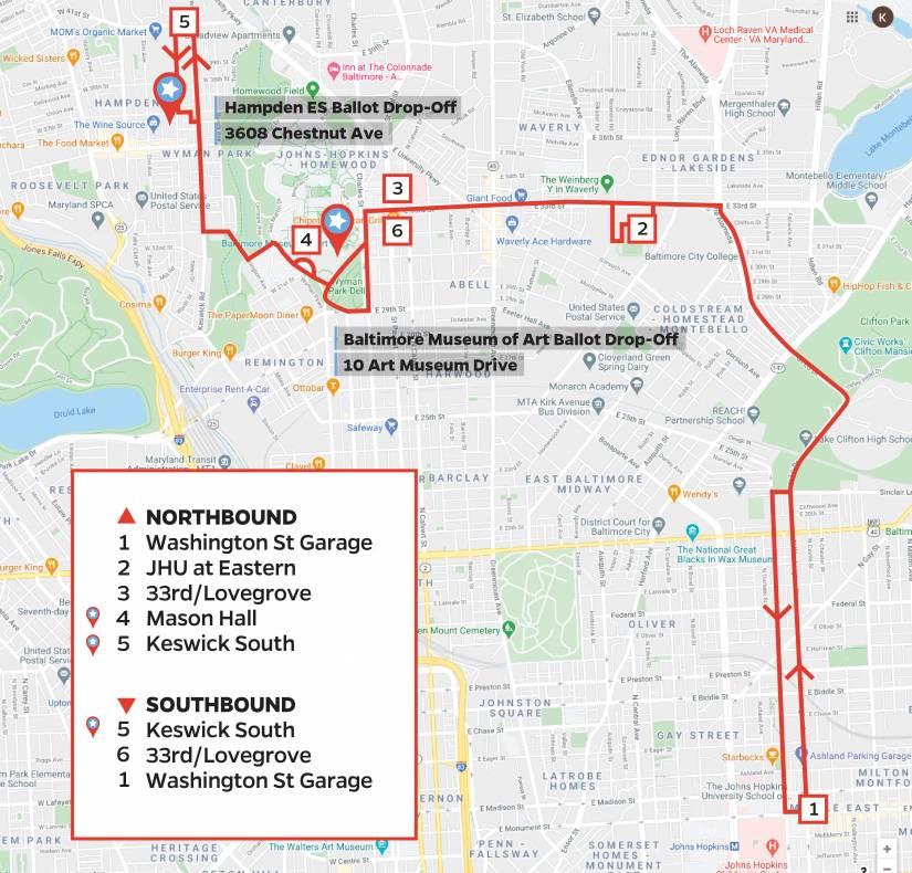 Keswick shuttle ballot box map